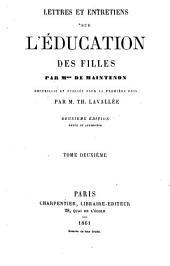 Lettres et entretiens sur l'éducation des filles: Volume2