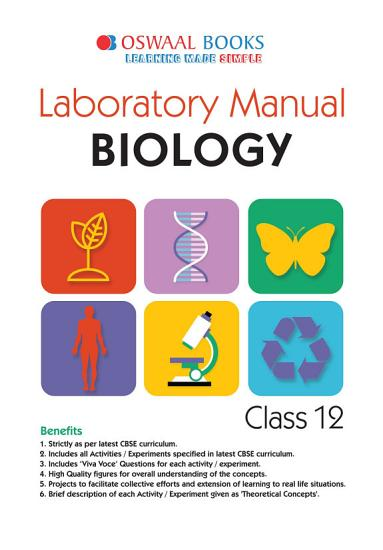 Oswaal CBSE Laboratory Manual Class 12 Biology Book  For 2021 Exam  PDF