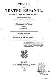 Teatro escogido de Calderón de la Barca: con una introducción y la biografía