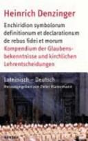 Enchiridion symbolorum definitionum et declarationum de rebus fidei et morum PDF