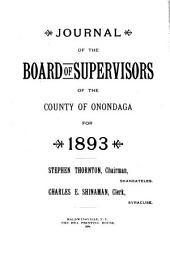 Journal of the Board of Supervisors of the County of Onondaga