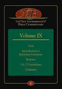 The New Interpreter s Bible Commentary Volume IX