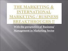 The Basics on Marketing  International Marketing  International Business     PDF