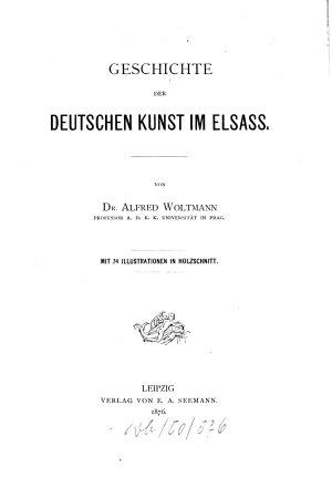 Geschichte der deutschen Kunst im Elsass PDF
