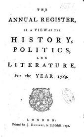 Annual Register: Volume 31