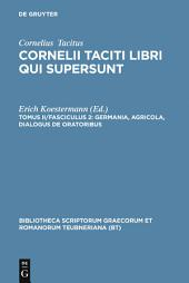 Germania, Agricola, Dialogus de oratoribus: Edition 3