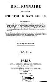 Dictionnaire classique d'histoire naturelle: Pla - Roy, Volume14