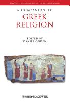 A Companion to Greek Religion PDF
