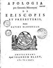 Apologia pro sententia Hieronymi de episcopis et presbyteris