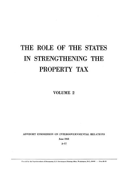 Download The Role of the States in Strengthening the Property Tax Book