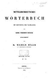 Mittelhochdeutsches Wörterbuch: A-L