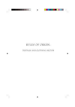 Rules of Origin PDF