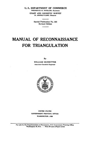 Manual of Reconnaissance for Triangulation