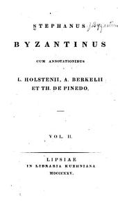 Stephanus Byzantinus: Volume 2