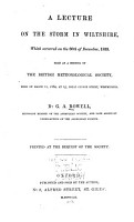A Lecture on the Storm in Wiltshire  which Occurred on the 30th of December  1859 PDF