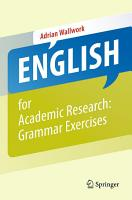 English for Academic Research  Grammar Exercises PDF