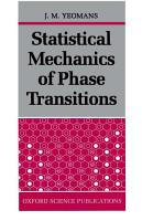 Statistical Mechanics of Phase Transitions PDF