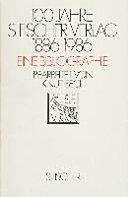 100 Jahre S  Fischer Verlag 1886 1986 PDF