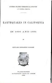 Earthquakes in California in 1890 and 1891