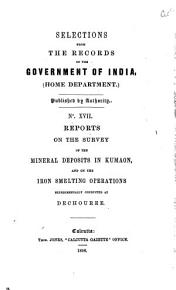 Selections From the Records of the Government of India Home Department  PDF