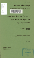 Commerce  Justice  Science  and Related Agencies Appropriations for Fiscal Year 2011 PDF