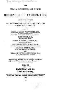 The Messenger of Mathematics PDF