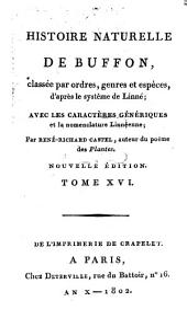 Histoire Naturelle: classée par ordres, genres et espèces, d'après le système de Linnée : avec les Caractères génériques et la nomenclature Linnéenne. Oiseaux ; T. 6, Volume16