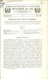 Influence of a city on farming: a study of types of farms and their organization in Jefferson County, Ky