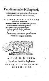 Parodiae morales H. Stephani