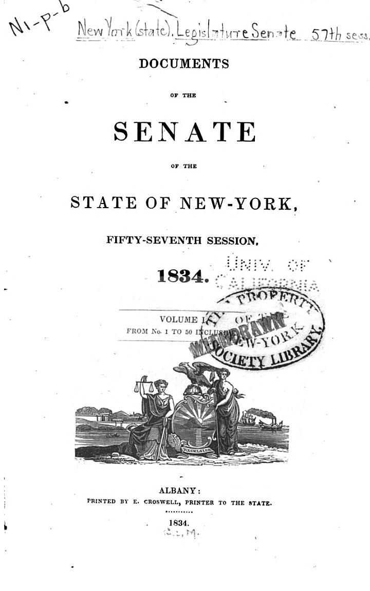 Documents of the Senate of the State of New York