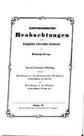 Astronomische beobachtungen auf der Königlichen universitäts-sternwarte zu Königsberg ...: Bände 31-32