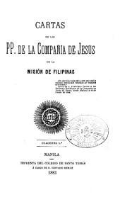 Cartas de los padres de la Compañía de Jesus de la Mision de Filipinas ...: Número 5