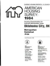 Current housing reports: American housing survey, Birmingham, AL, metropolitan statistical area. Housing characteristics for selected metropolitan areas