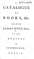 A Catalogue of Books  etc  sold by James Hoey  etc PDF