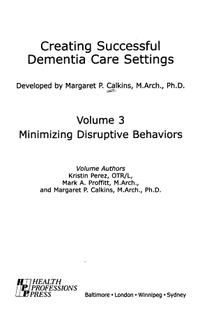 Creating Successful Dementia Care Settings