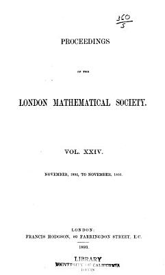 Proceedings of the London Mathematical Society PDF