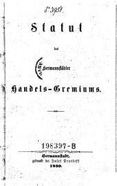 Statut des Hermannstädter Handels-Gremiums