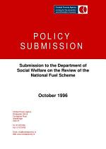 Combat Poverty Agency Submission to the Department of Social Welfare on the Review of the National Fuel Scheme (1996)