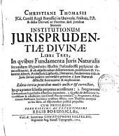 Institutionum iurisprudentiae divinae libri tres