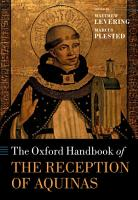 The Oxford Handbook of the Reception of Aquinas PDF
