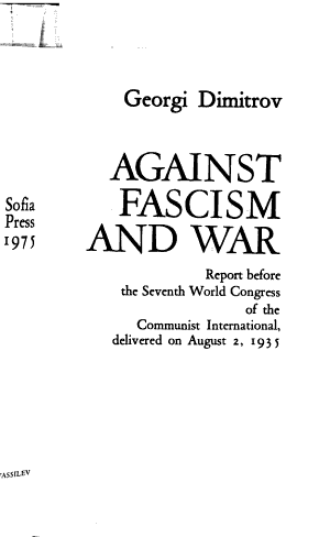 Against Fascism and War PDF