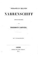 Sebastian Brants Narrenschiff  Herausgegeben von Friedrich Zarncke  Mit 4 Holzschnitten PDF
