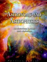 Astronomy and Astrophysics PDF