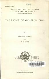 The escape of gas from coal