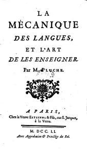 La mecanique des langues et l'art de les enseigner
