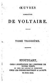Œuvres complètes de Voltaire: Volume3