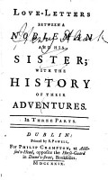 Love letters between a nobleman and his sister  with the history of their adventures PDF