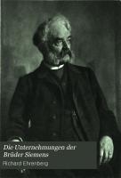 Die Unternehmungen der Br  der Siemens PDF