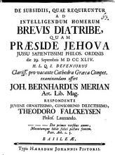 De subsidiis  quae requiruntur ad intelligendum Homerum brevis diatribe PDF