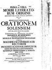 De prima ac vera morbi literatorum origine